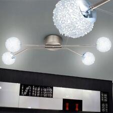 Éclairage plafonnier DEL 24W luminaire plafond lampe LED nickel aluminium boules