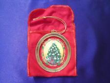 "Avon - ""Christmas 1995"" Commemorative Ornament Gold Tone w/ Suspended Tree"