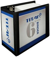 Samsill Titan Extra Large 6 Inch 3 Ring Binder -  Locking D-Ring - Clear View...