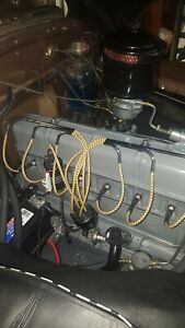 216/235 BRAIDED CLOTH SPARK PLUG WIRES WITH CHROME LOOMS GM CHEVY