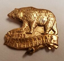 Rare 1925 California DIAMOND JUBILEE  Bronze Bear Pin-Back Badge Whitehead Hoag