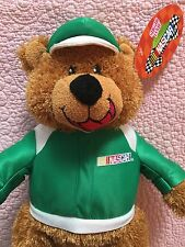 NASCAR Plush Bear Sugarloaf Sugar Loaf Green NASCAR jacket and cap 2005 NWT