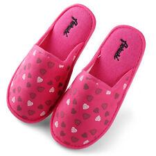 Women Warm Indoor Bedroom Slippers Heart Pattern Memory Foam Soft Fluffy Shoes