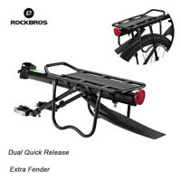 ROCKBROS Bicycle Quick Release Carrier Mount Pannier Racks Max 75KG With Fender