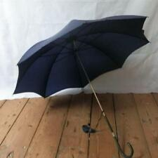 Antique Paragon Fox England Umbrella - Leather Handle And 'Pure Nylon' Canopy