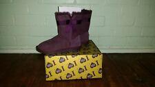 Ugg Boots Sheepskin Mini Classic Casual Australian Ladies Purple Size 8 US