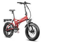 """Eahora X7 750W 20"""" Red Color Fat Tire Folding Electric Bike Full Suspension NEW"""