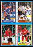 1989-90 O PEE CHEE opc Steve Yzerman Cam Neely NM BOX BOTTOM 4 CARD UNCUT PANEL