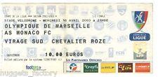 Billet  / Place  OM Olympique de Marseille - OM vs Monaco  ( 094 )