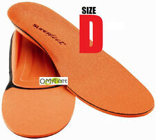 Superfeet ORANGE Insoles Inserts Orthotic Arch Support MEN Shoe Size 7.5 to 9 #D