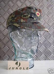 Genuine German Army Flectarn Camouflage Peak Baseball Cap / Hat - Size 60cms