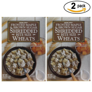 Trader Joe's Brown Sugar & Frosted Maple Bite Size Wheats Shredded (2 pack)
