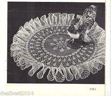 VINTAGE DOILY DEW DROP TABLE MAT Knitted CROCHET PATTERN PATRON INSTRUCTION PDF