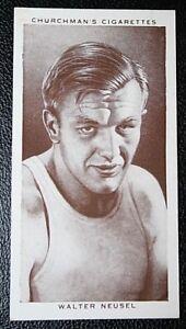 German Heavy Weight Boxer   Walter Neusel  Original 1930's Photo Card  CAT E