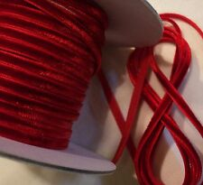"""1/8"""" RAYON VELVET RIBBON  - MADE IN JAPAN  - RED - DOLLS / JEWELRY"""
