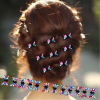 12PCS Girls Princess Rhinestone Mini Hair Claws Cute Sweet Animal Hair Clip b