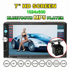 Autoradio 7'' 2 Din Bluetooth Touchscreen MP3 MP5 Radio Player USB AUX SD 1080P