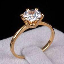 0.40 Cts F/VS1 GIA Certified Round Brilliant Cut Diamond Ring In Fine 14K Gold