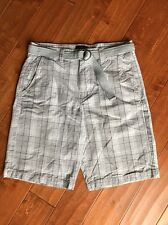 "American Eagle AE Grey Plaid Longboard Shorts Men's Size 33 11"" Inseam EUC"