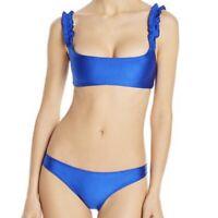 NWT ELLEJAY Diane Bikini Swim Bottoms Blue NEW Size XS Revolve