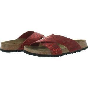 Birkenstock Papillio Daytona Sandals Red Python LEATHER 43, 10 Men, Womens 12