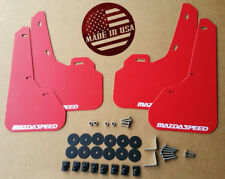 [SR] 10-13 Mazdaspeed 3 & Mazda 3 Mud Flaps Kit RED with Hardware & Vinyl Logo