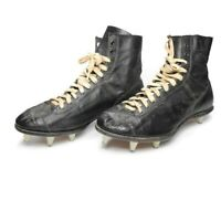 Vintage 1930's Era Football Rugby Leather Shoes Cleats Boots Antique Size 10E