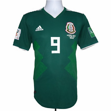 2017-2018 Mexico Home Shirt #9 Raul Jimenez Match Issue Adidas M (Excellent)