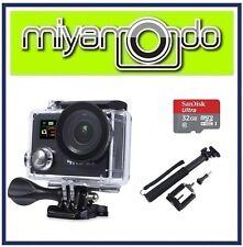 Eken H8R Action Camera 4K Ultra HD WiFi (Black) + Monopod + Ultra microSD 32GB