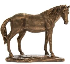 Collectable Horse Ornament Reflections Bronze Resin Equine Sculpture Home Decor