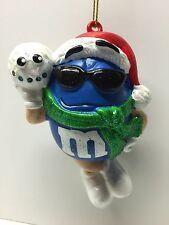 M&M Blue Tree Ornament Kurt Adler Holiday Mars Candy Chocolate Scarf Snowball