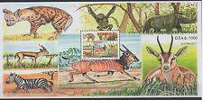 Senegal 2017 Block S/S Fauna Faune National Park Zebra Monkey rhinoceros hyena