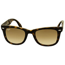 Ray-Ban Folding Wayfarer Havana Frame Brown Gradient Lens Sunglasses