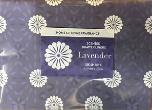 Home of Home Fragrance Contemporary Scented Drawer Liners SIX Sheets LAVENDER
