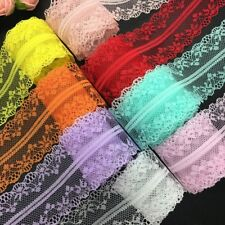 DIY 45mm Size 12 Yards Bilateral Embroidered Net Lace Bow Ribbon Sewing Trims