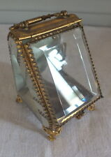 boite à bijoux porte montre verre épais biseauté jewelry box Napoléon III