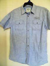 COMPANY 81-Chambry Blue  S/S Button - Casual SHIRT - Pockets - Cotton - MENS XL