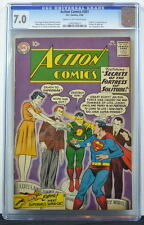 ACTION COMICS #261 CGC 7.0 Superman 1960 Origin & 1st App Streaky 3rd Best copy