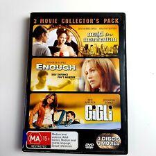 Maid In Manhattan  / Enough  / Gigli (DVD 2006, Region 4 , 3-Disc Set)