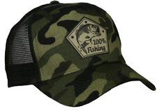 100% Fishing Angler Trucker Cap Camouflage Tarn Fisch angeln Basecap Rute Sport