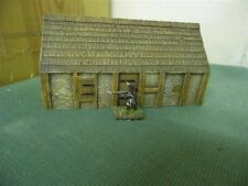15MM PMC GAMES ME88 (PAINTED) SMALL LONG OUTBUILDING SLATE ROOF - MEDIEVAL