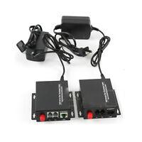 Premium Telephone Fiber Optic Media Converters PCM Voice with 10/100M Ethernet