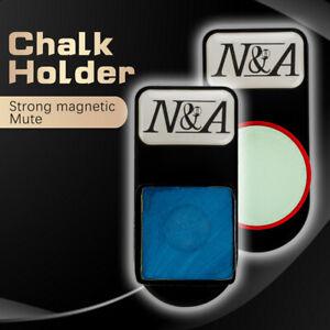 NA Chalk Holder Magnetic Square/Round Billiard Pool Cue Snooker Chalk Holder