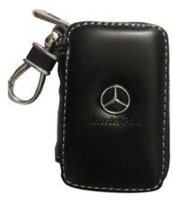Mercedes-Benz Black Leather Car Key Chain Holder Keychain Wallet Bag