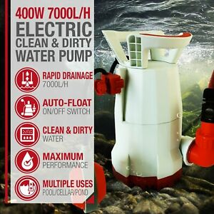 400W Electric Submersible Clean And Dirty Water Pond Pump Grade B Used