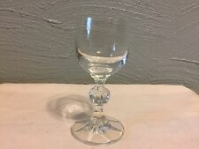 """Bohemia Crystal CLAUDIA with Faceted Ball Stem 4-1/4"""" Cordial Glass Goblet"""