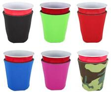 Blank Foam Collapsible Bottom Solo Cup Coolie (6, Various) Various
