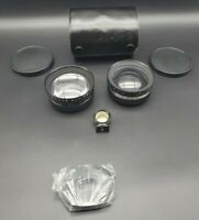 Yashica Aux Telephoto/ Aux Wide Angle 1:4 Lenses & Tele-Wide Finder in Case