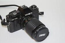 Minolta X-7A SLR 35mm Camera with Sakar 35-75mm Zoom / Macro 1:3.5-4.8