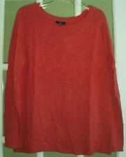 THE GAP RED PULLOVER LIGHTWEIGHT SWEATER WOMEN'S SIZE LARGE NEW